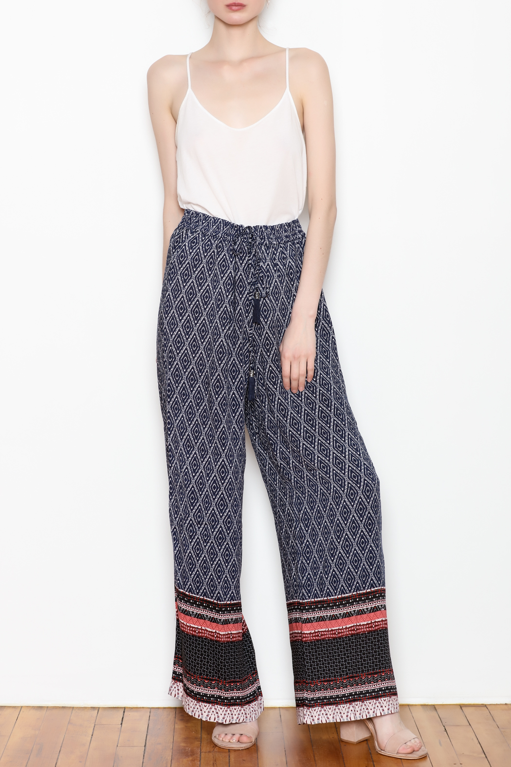 Tribal Wide Leg Pant - Side Cropped Image