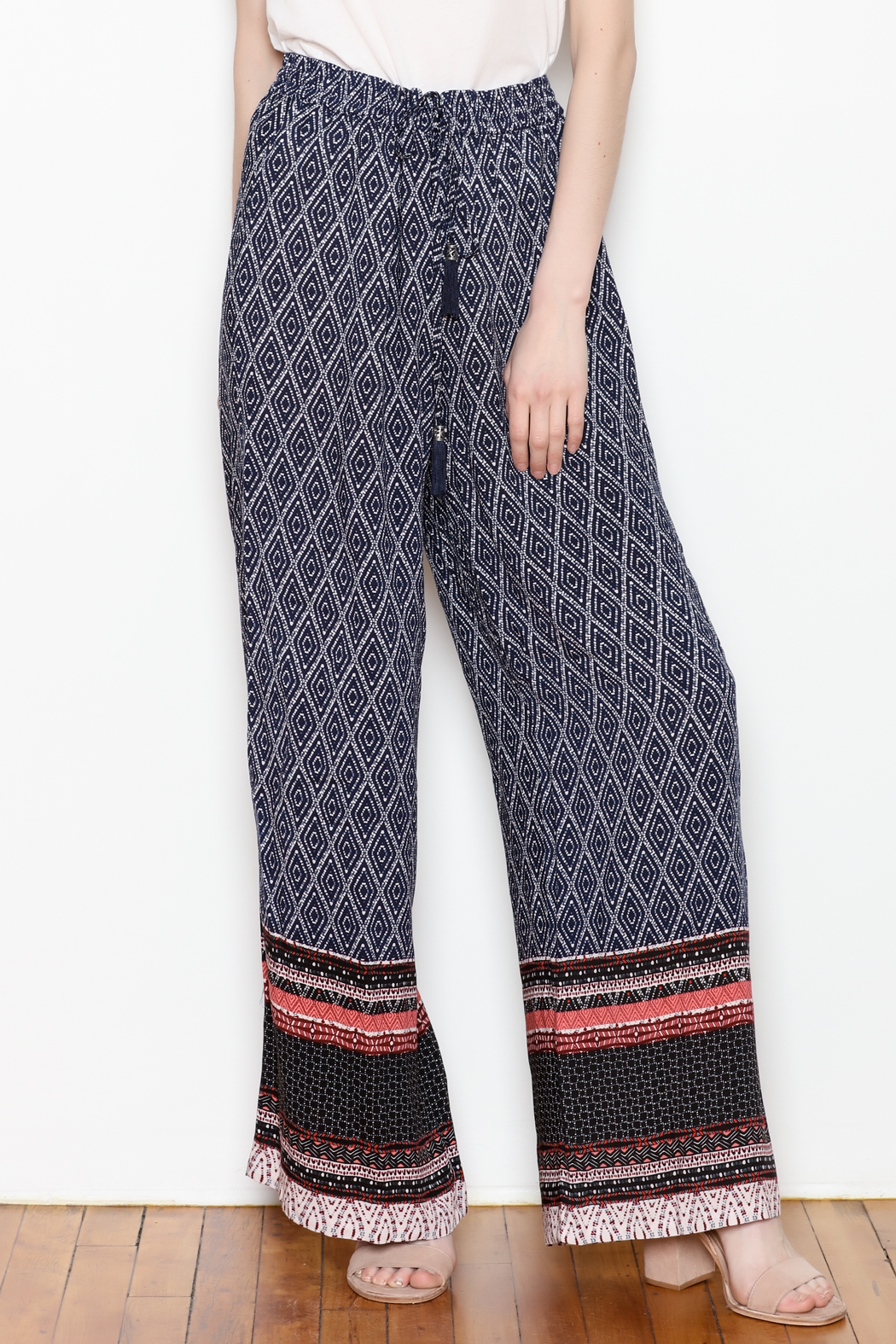 Tribal Wide Leg Pant - Front Full Image