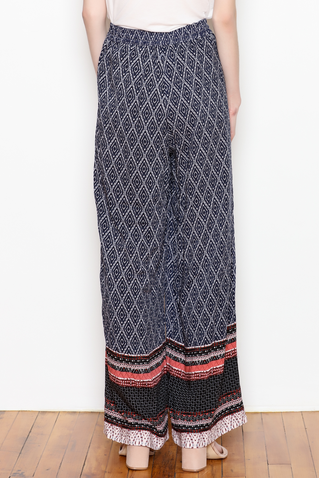 Tribal Wide Leg Pant - Back Cropped Image
