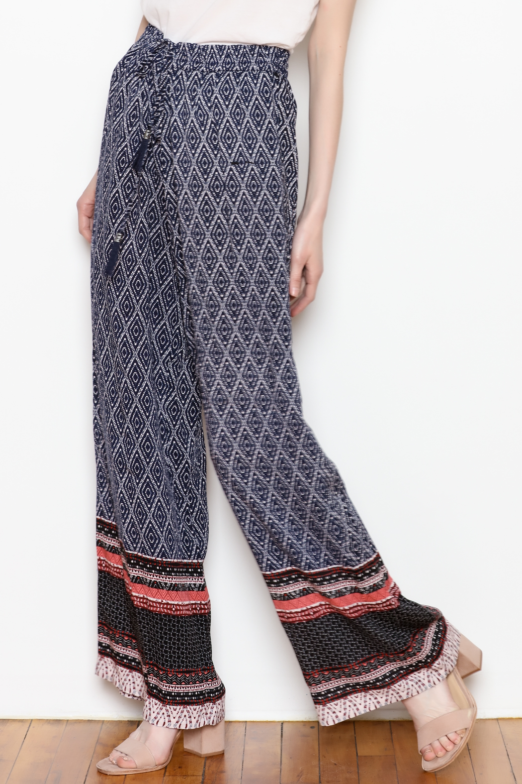 Tribal Wide Leg Pant - Front Cropped Image