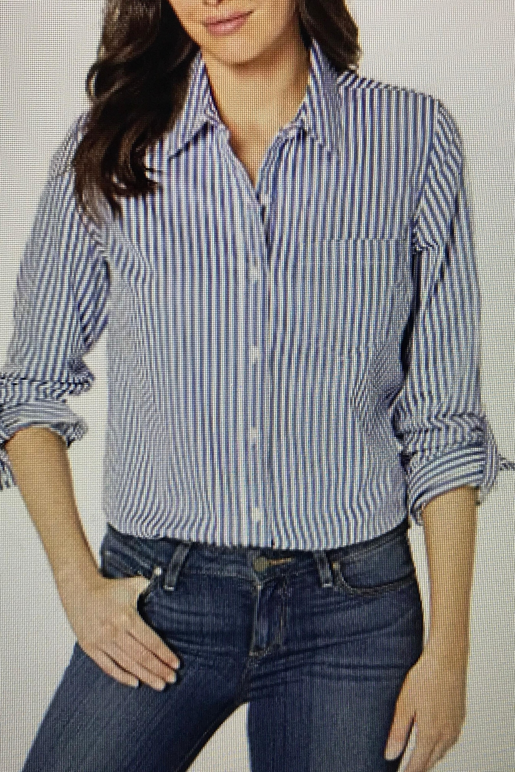 Tribal Button Down Shirt - Front Cropped Image