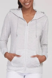 Tribal Zip Up Summer Hoodie - Front cropped