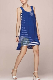 Tribal Femme Striped Dress W/overlay - Product Mini Image