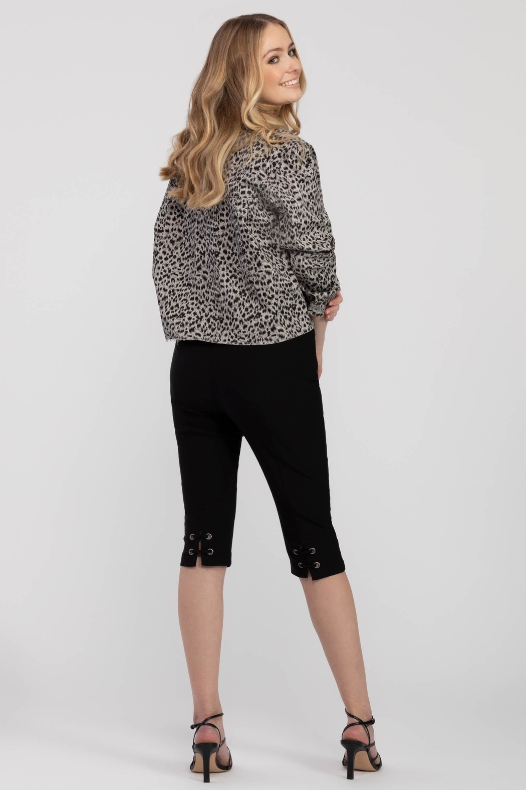 Tribal Jeans Animal Print Jacket - Front Full Image