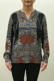 Tribal Jeans Boho Blouse - Front cropped