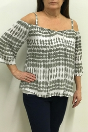 Tribal Jeans Cold Shoulder Blouse - Product Mini Image
