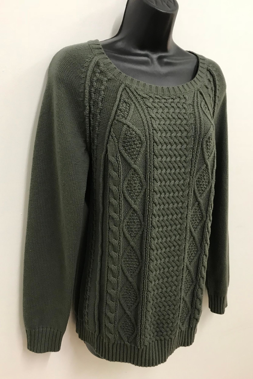 Tribal Jeans Cotton Cable Sweater - Main Image