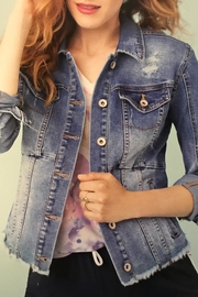 Tribal Jeans Cropped Denim Jacket - Product Mini Image