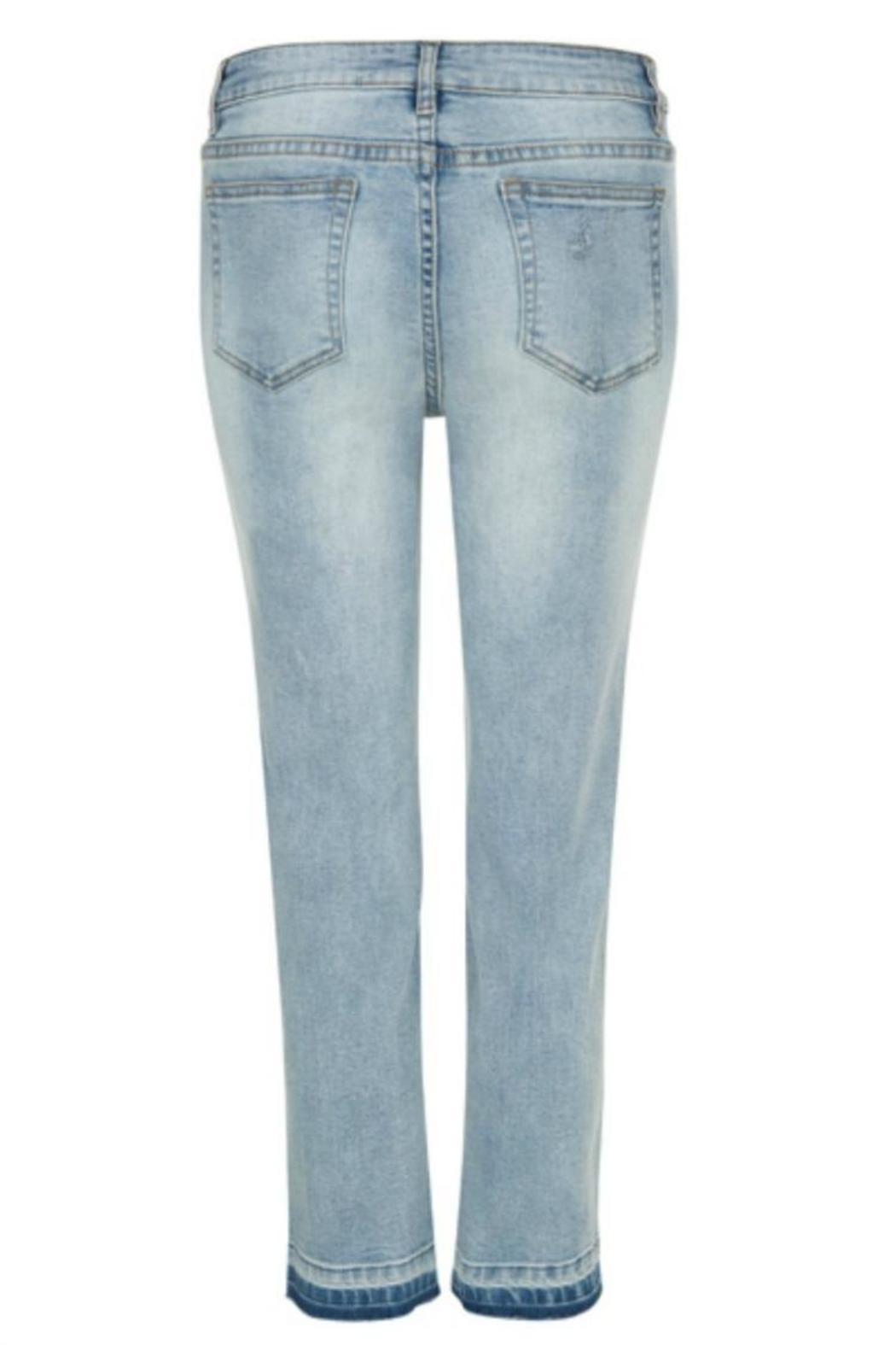 Tribal Jeans Distressed Blue Jeans - Side Cropped Image