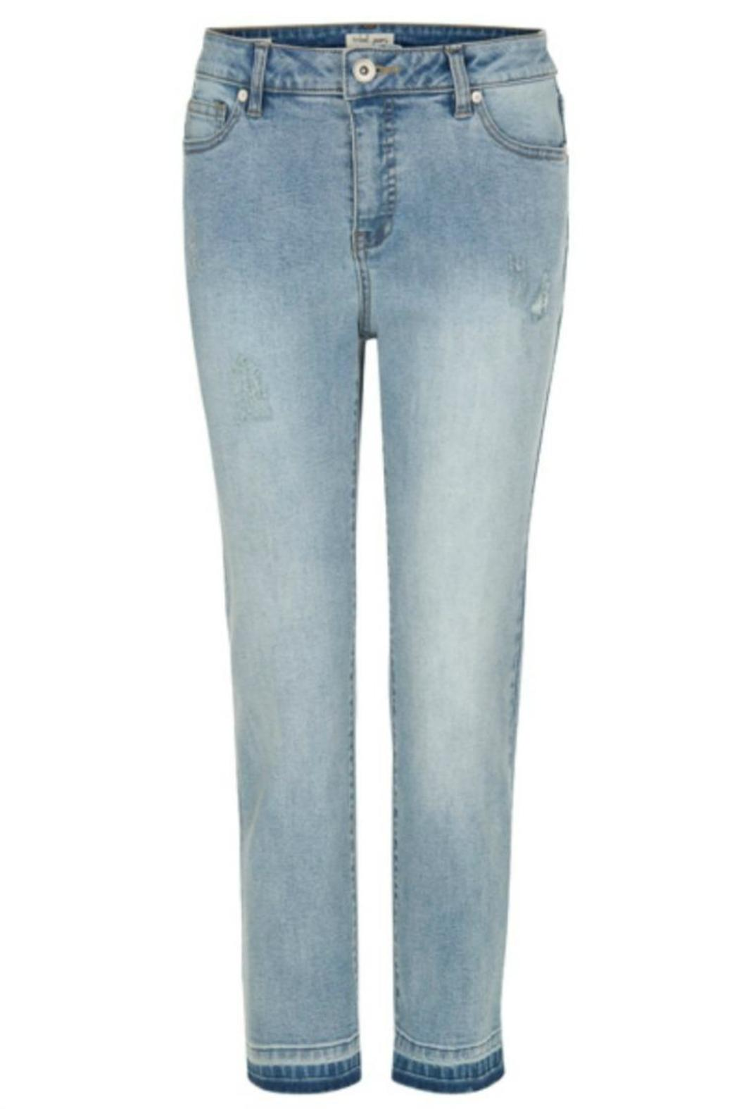 Tribal Jeans Distressed Blue Jeans - Main Image