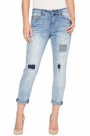 Tribal Jeans Distressed Boyfriend Jeans - Product Mini Image