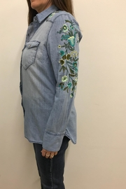 Tribal Jeans Embroidered Denim Shirt - Front full body