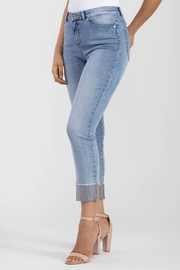 Tribal Jeans Jeweled Cuff Jeans - Front cropped