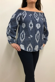 Tribal Jeans Off Shoulder Blouse - Product Mini Image