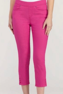 Tribal Jeans Pull On Pink Cropped Pants - Alternate List Image