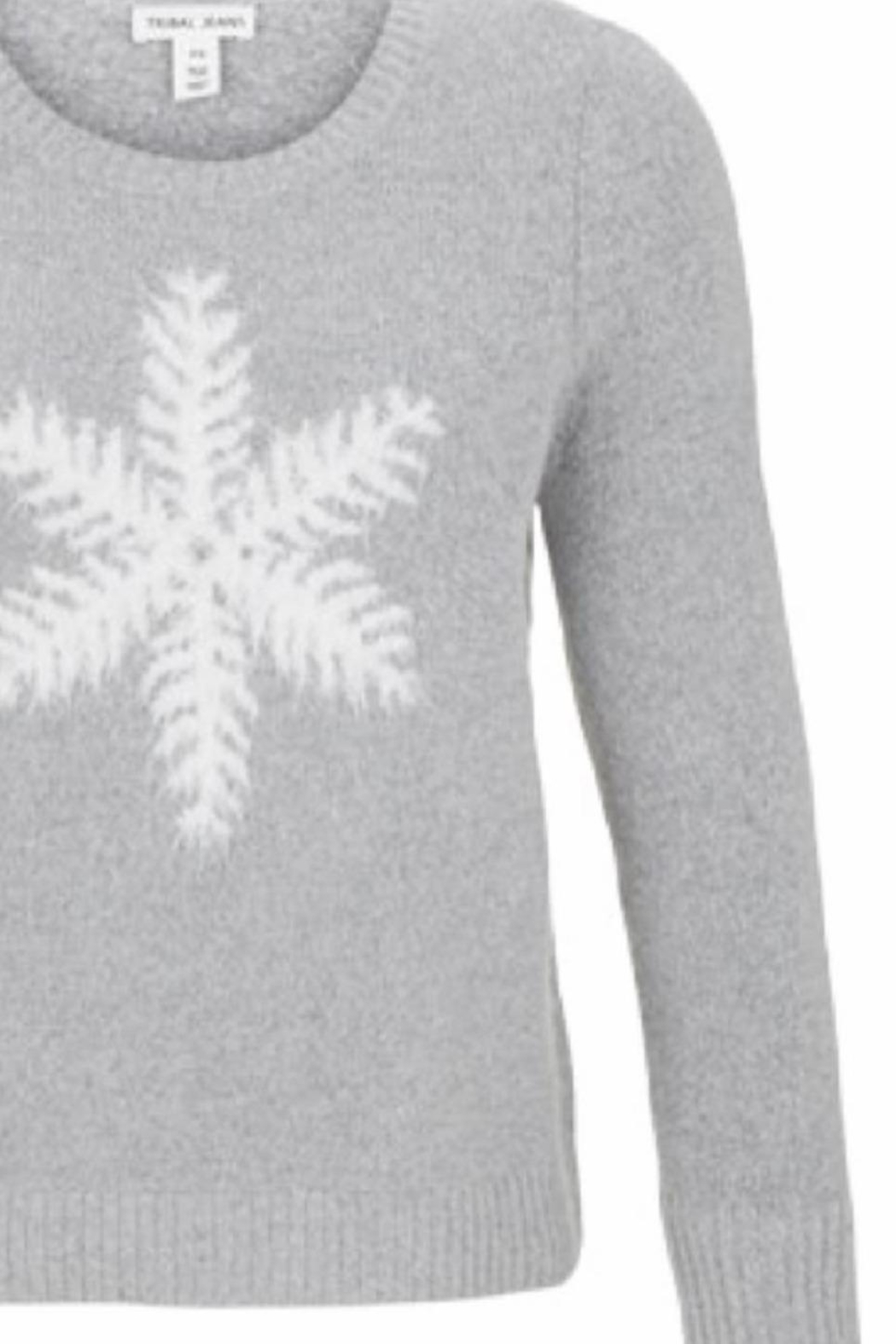 Tribal Jeans Soft Snowflake Sweater - Front Full Image