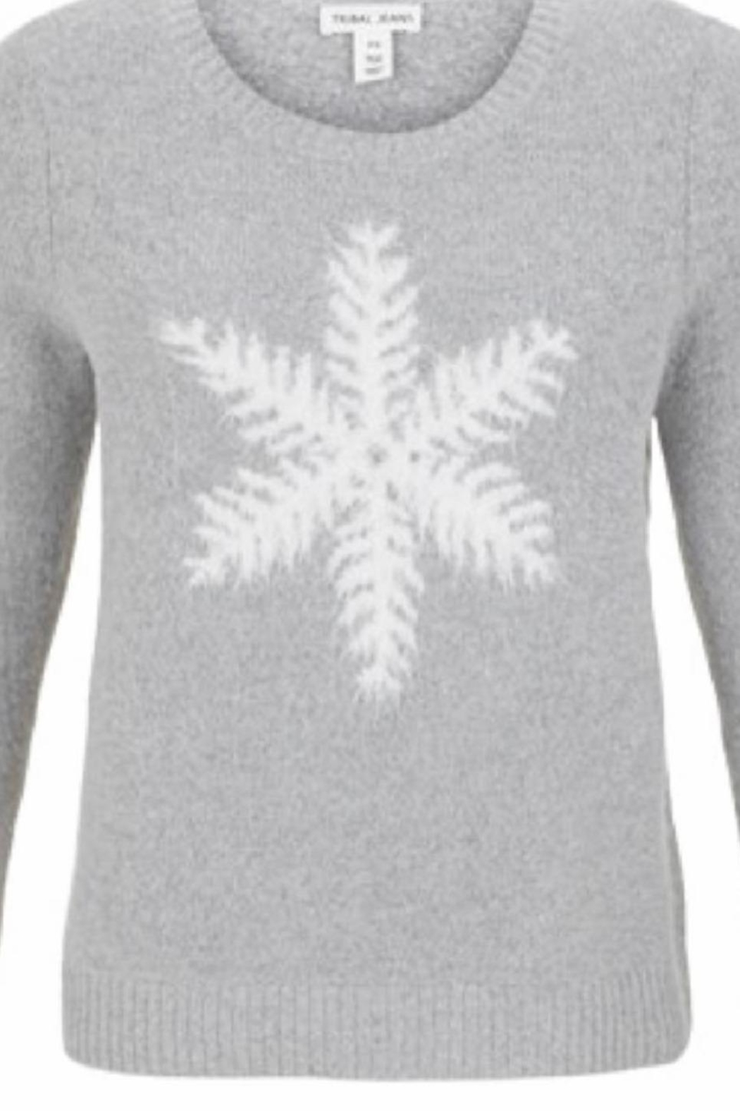 Tribal Jeans Soft Snowflake Sweater - Main Image