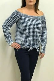 Tribal Jeans Tie Front Shirt - Front full body
