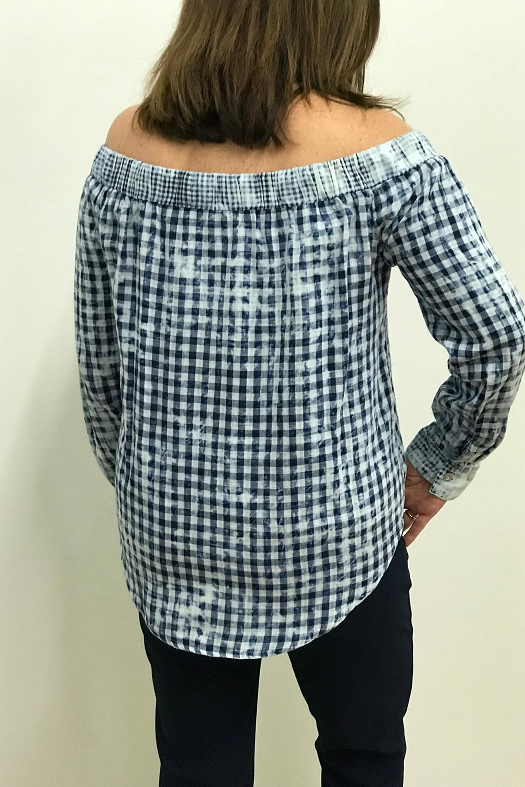 Tribal Jeans Tie Front Shirt - Side Cropped Image
