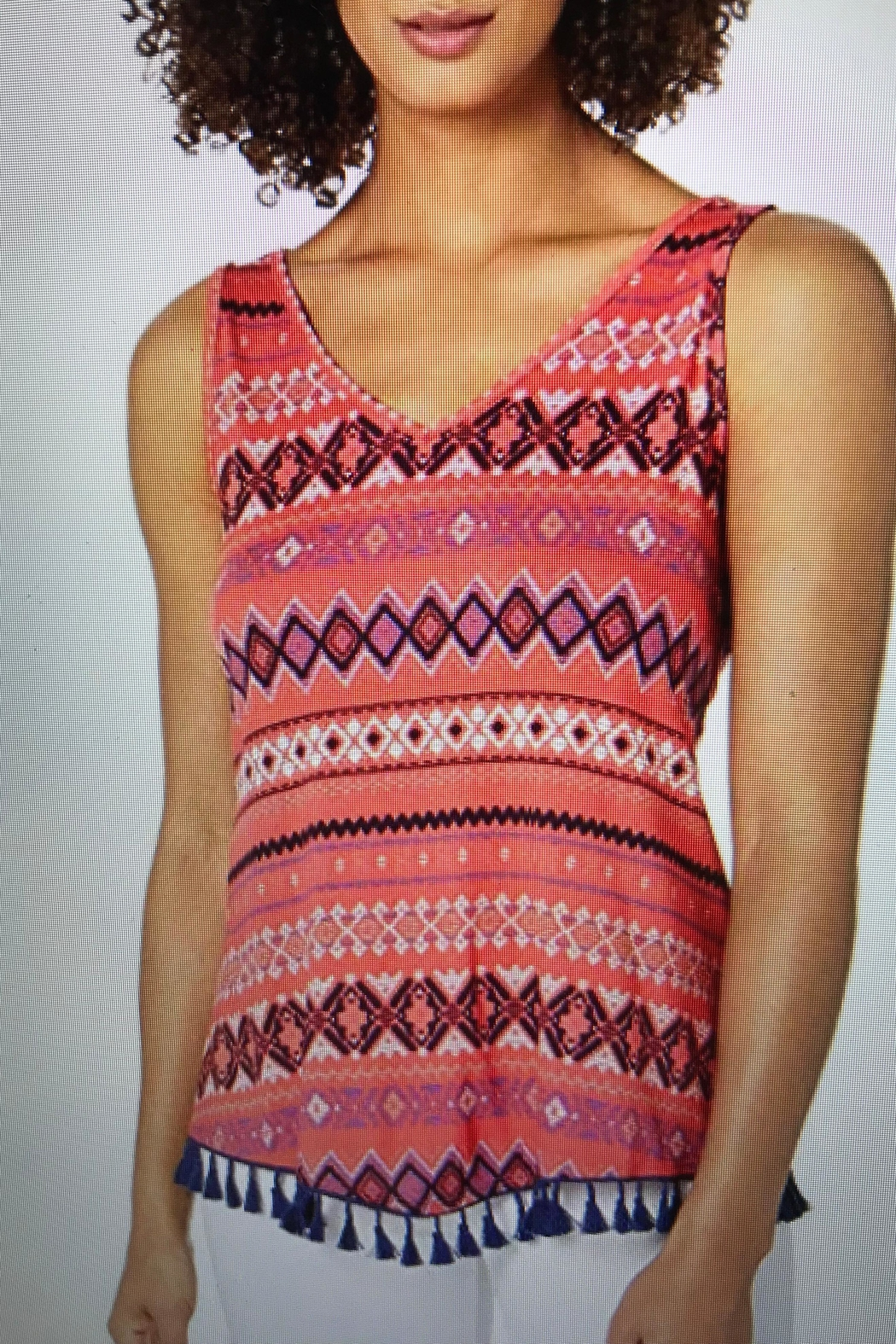 Tribal Jeans Top With Tassels - Main Image