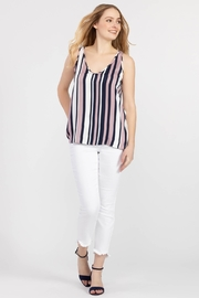 Tribal Jeans Vertical Stripe Tank - Front cropped