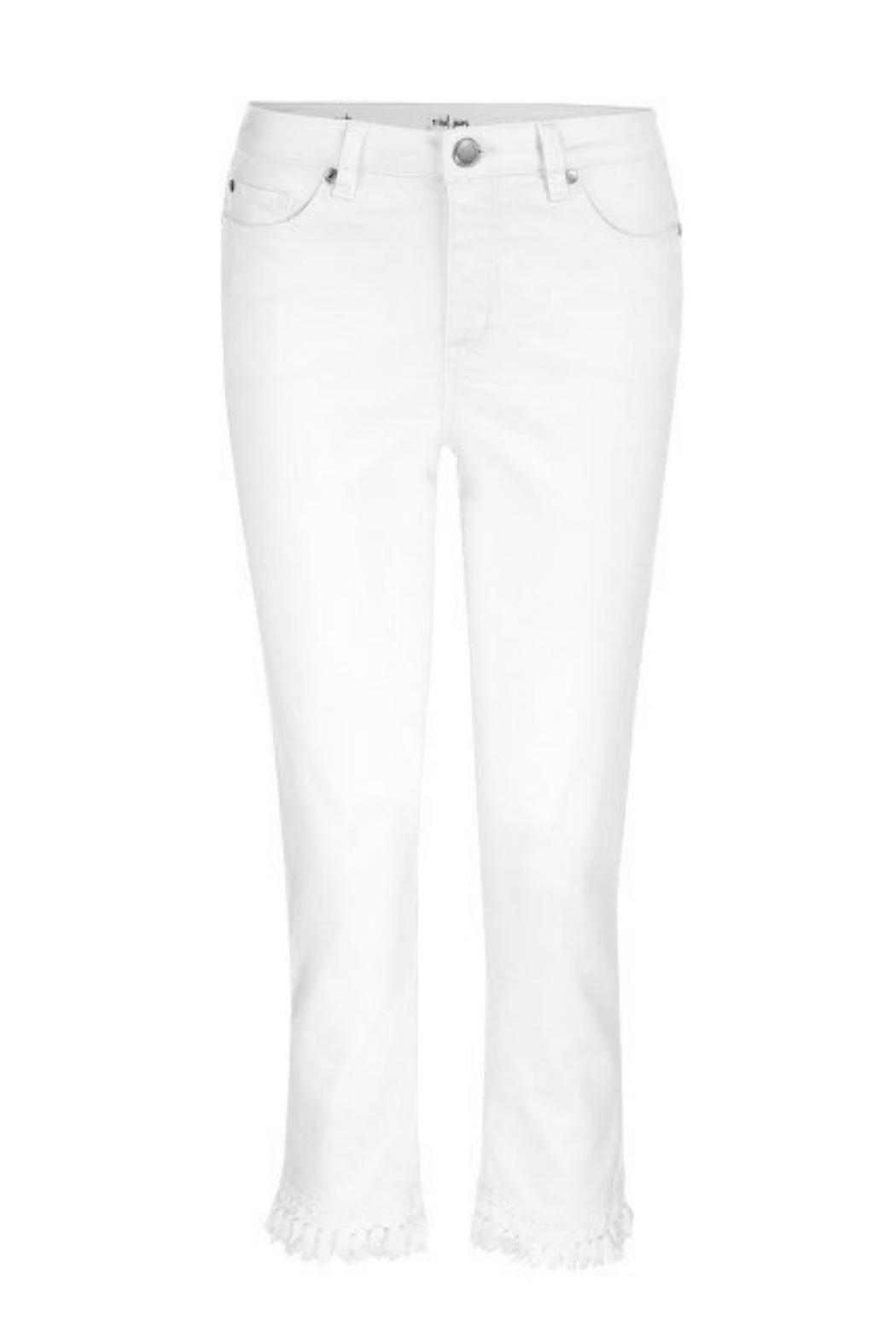 Tribal Jeans White Cropped Jean - Front Full Image