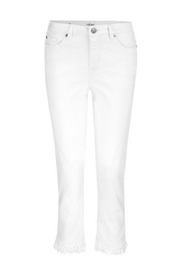 Tribal Jeans White Cropped Jean - Front full body