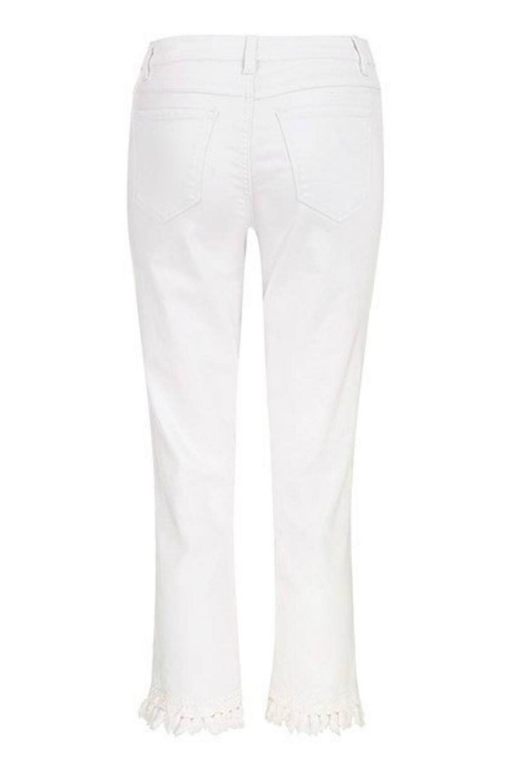 Tribal Jeans White Cropped Jean - Side Cropped Image