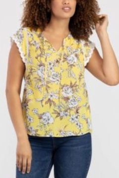 Tribal Jeans Yellow Summer Top - Product List Image