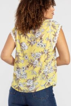Tribal Jeans Yellow Summer Top - Alternate List Image