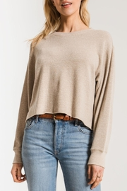 z supply Triblend Cropped Tee - Front cropped