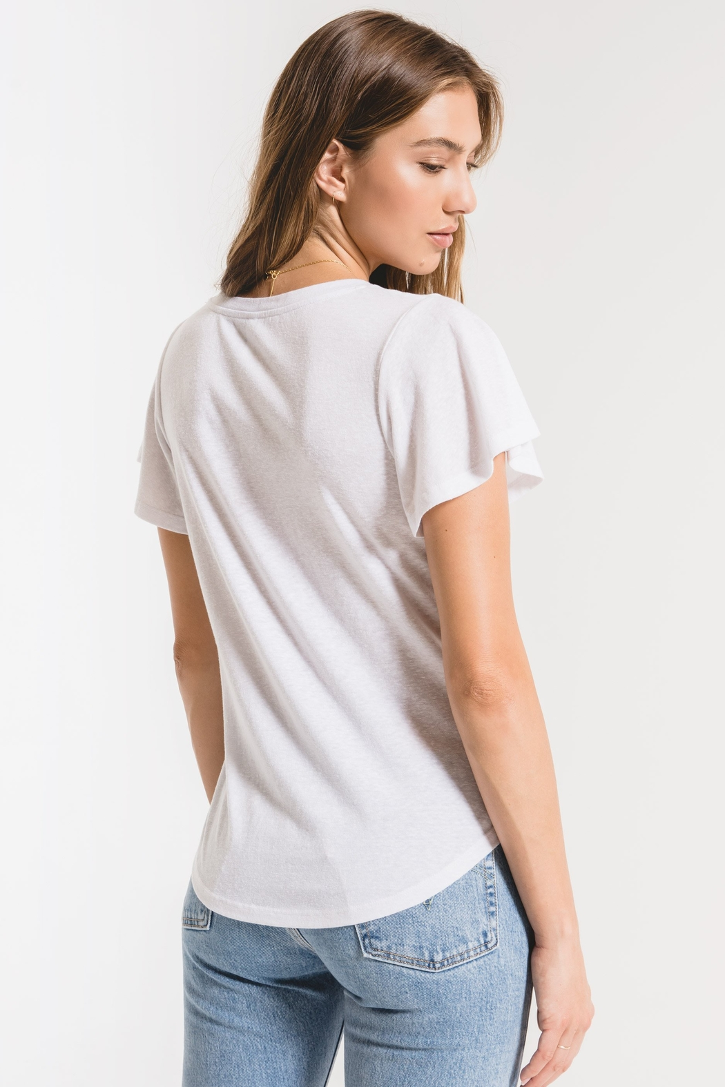 z supply Triblend Flutter V-Neck Tee - Side Cropped Image