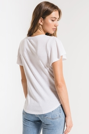 z supply Triblend Flutter V-Neck Tee - Side cropped
