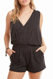 Chaser Triblend Hooded Surplice Romper - Product Mini Image