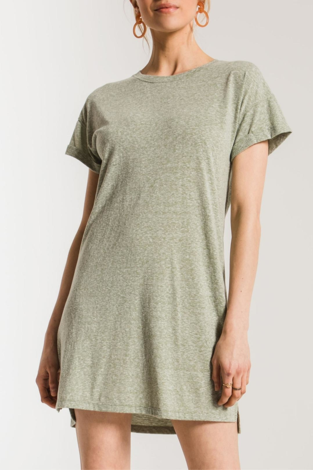 z supply Triblend T-Shirt Dress - Front Cropped Image