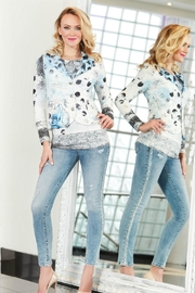 Tricotto Abstract Dot Jacket - Product Mini Image