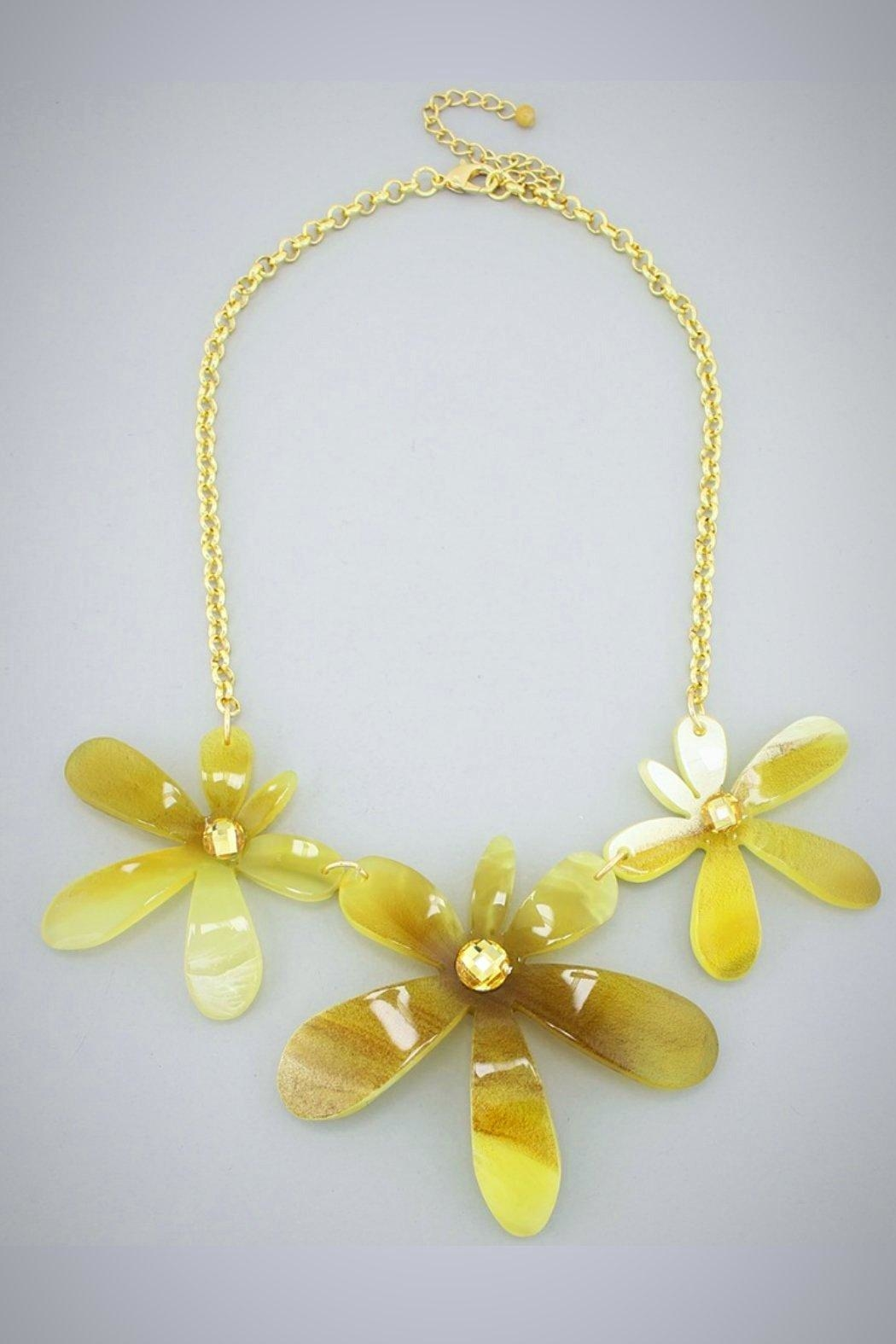 Embellish Trifecta Flower Necklace - Main Image