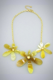 Embellish Trifecta Flower Necklace - Front cropped