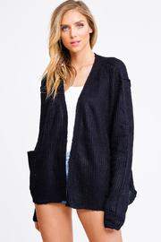 MONTREZ TRILANE POCKETED CARDI - Front cropped