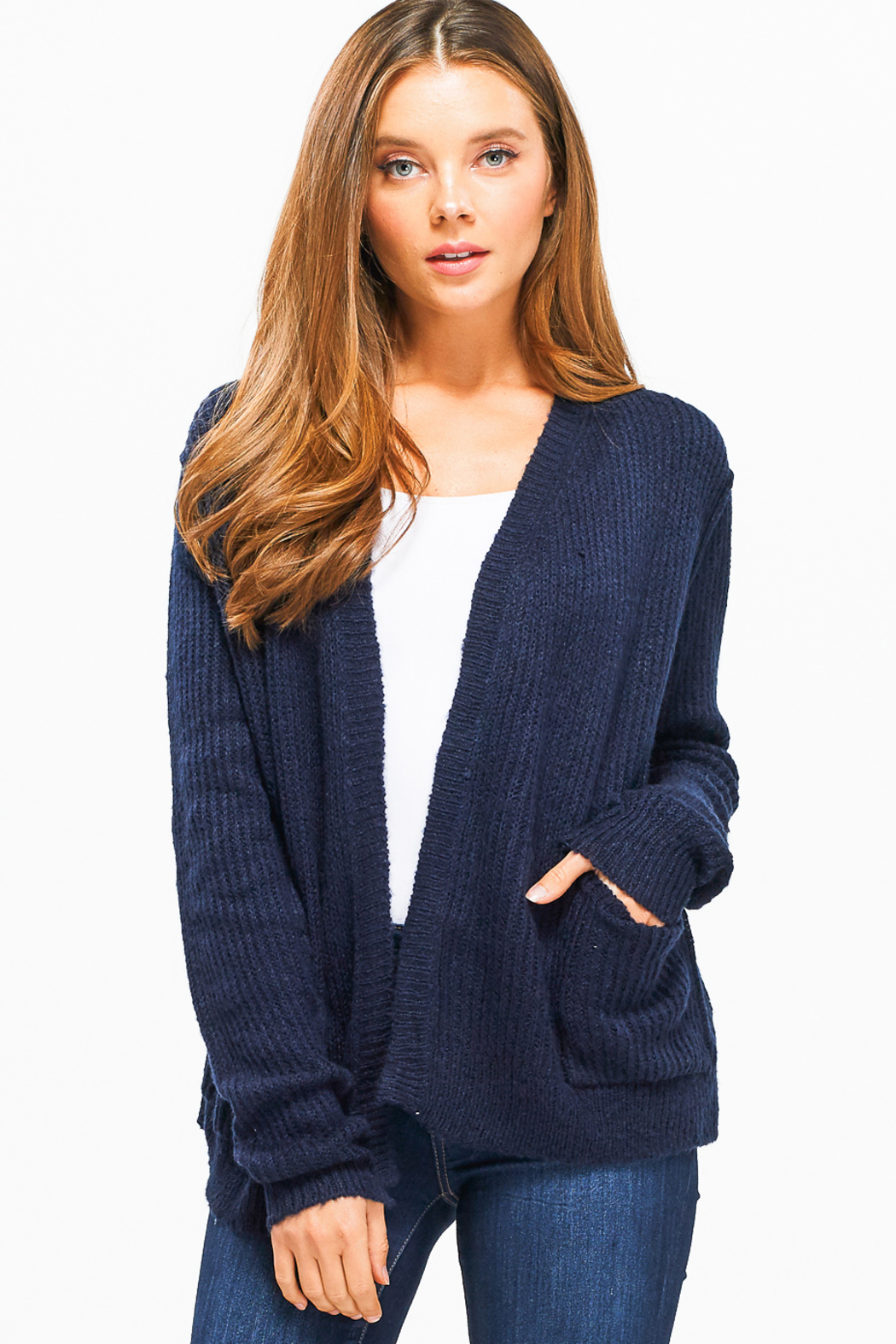 MONTREZ TRILANE POCKETED CARDI - Front Cropped Image