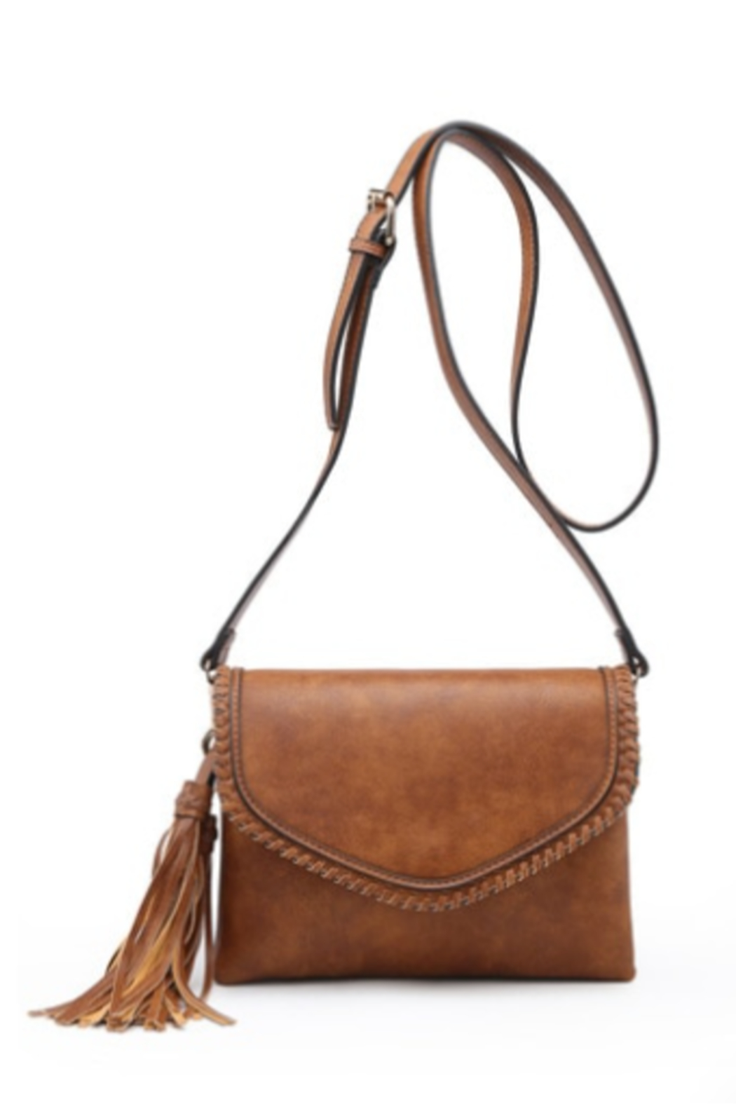 jen & co Trim Envelope Crossbody/Clutch - Front Cropped Image