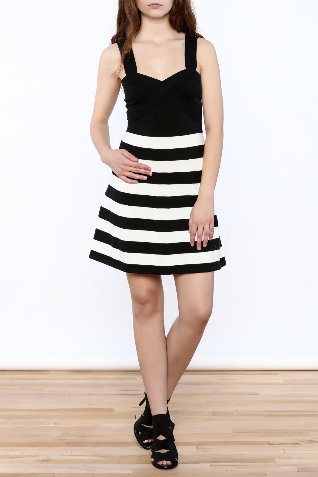 Trina by Trina Turk Side Striped Dress - Front Full Image