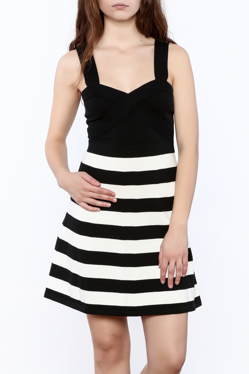 Trina by Trina Turk Side Striped Dress - Front Cropped Image