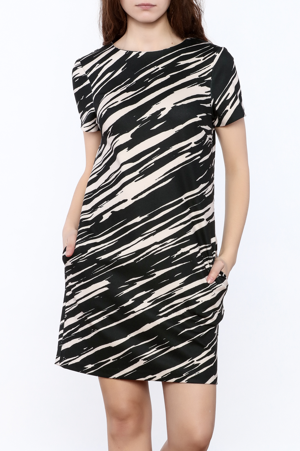 Trina by Trina Turk Zebra Mini Dress - Main Image