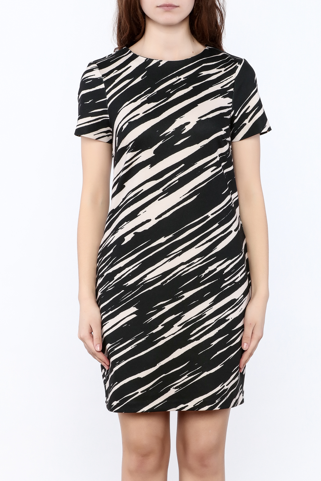 Trina by Trina Turk Zebra Mini Dress - Side Cropped Image