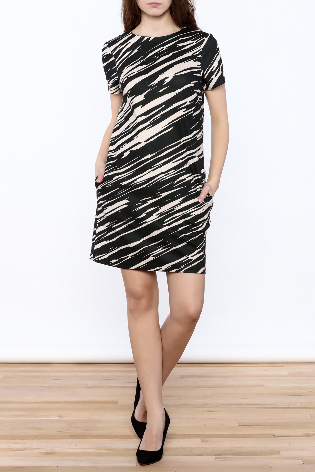 Trina by Trina Turk Zebra Mini Dress - Front Full Image