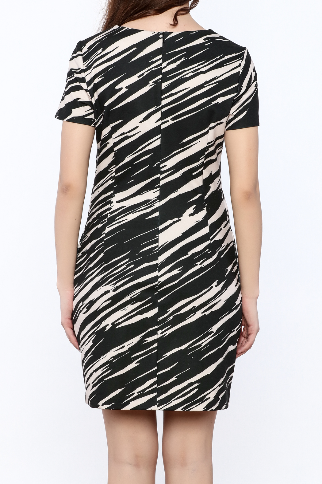 Trina by Trina Turk Zebra Mini Dress - Back Cropped Image