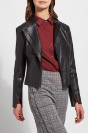 Lysse Trina Faux Leather Jacket - Front cropped