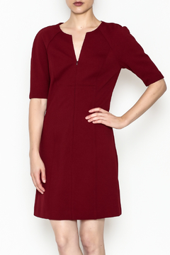 Trina by Trina Turk Kane Zip Front Diamond Ponte Dress - Product List Image