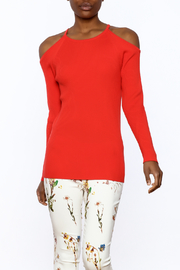 Trina Turk Orange Long Sleeve Sweater - Product Mini Image